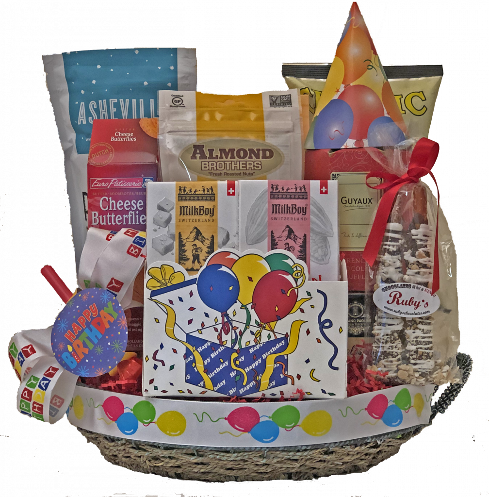 Home Gift Baskets Without Wine Happy Birthday